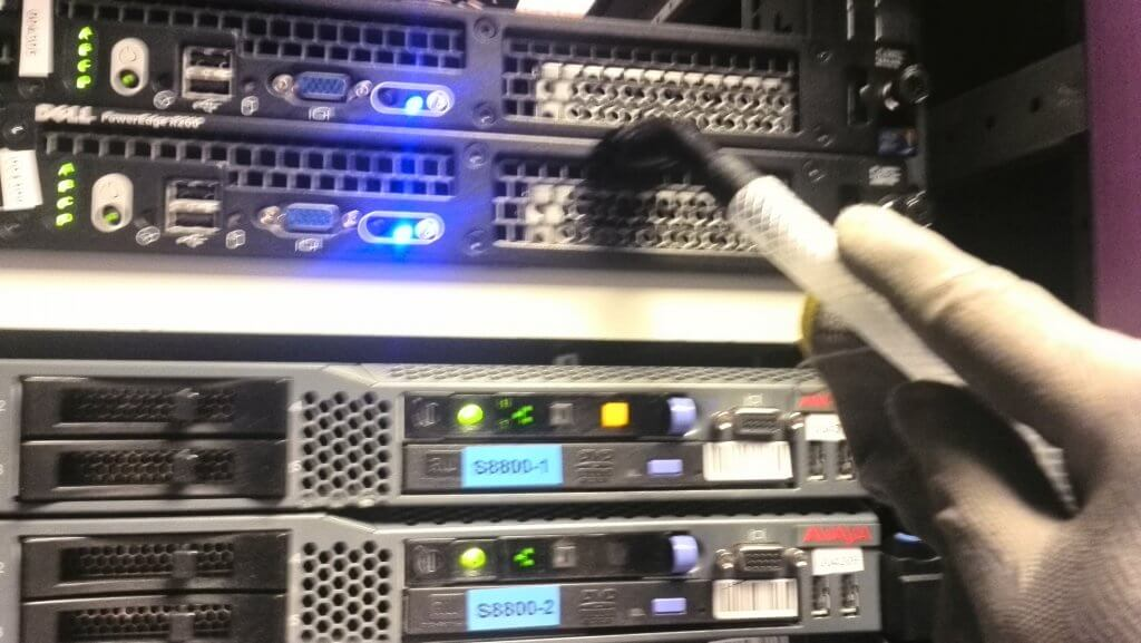 Nettoyage serveur informatique